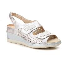 Sapatos Mulher Sandálias Gavi's Shoes Para Ella Sandalia de piel de mujer by TROPPA (R.ST) Argenté