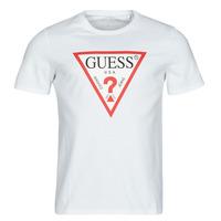 Textil Homem T-Shirt mangas curtas Guess CN SS ORIGINAL LOGO TEE Branco