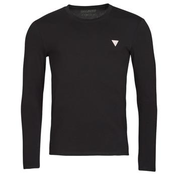 Textil Homem T-shirt mangas compridas Guess CN LS CORE TEE Preto