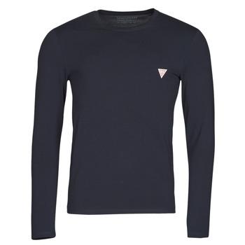 Textil Homem T-shirt mangas compridas Guess CN LS CORE TEE Marinho