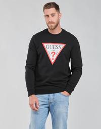 Textil Homem Sweats Guess AUDLEY CN FLEECE Preto