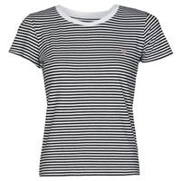 Textil Mulher T-Shirt mangas curtas Guess ES SS GUESS LOGO BABY TEE Preto / Branco