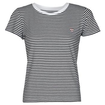 Textil Mulher T-Shirt mangas curtas Guess ES SS GUESS LOGO BABY TEE Preto