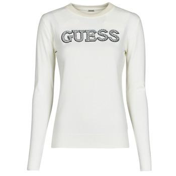 Textil Mulher camisolas Guess ELVIRE RN LS SWTR Bege