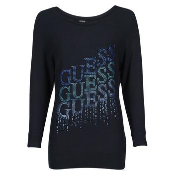 Textil Mulher camisolas Guess CLAUDINE BAT SLEEVE SWTR Preto