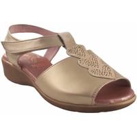 Sapatos Mulher Sandálias Duendy Pies delicados señora  318 platino Prata