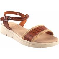 Sapatos Mulher Sandálias Duendy Sandalia señora  3206 cuero Castanho