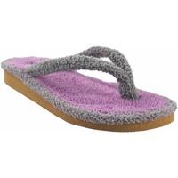 Sapatos Mulher Chinelos Berevere Vá para casa senhora  v 9301 cinza Cinza
