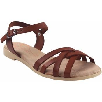 Sapatos Mulher Sandálias Duendy Sandalia señora  3265 cuero Castanho