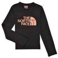 Textil Rapaz T-shirt mangas compridas The North Face EASY TEE LS Preto