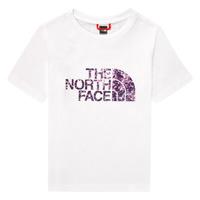 Textil Rapariga T-Shirt mangas curtas The North Face EASY BOY TEE Branco