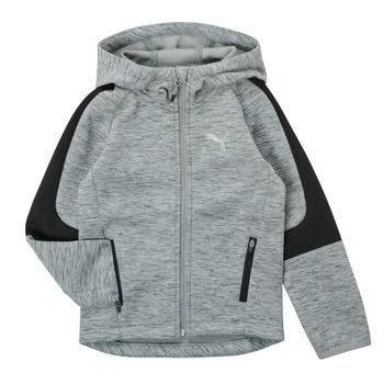 Textil Rapaz Sweats Puma EVOSTRIPE FZ HOODED JACKET Cinza