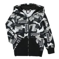 Textil Rapaz Sweats Puma ALPHA AOP FZ Preto