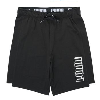 Textil Rapaz Shorts / Bermudas Puma ALPHA SHORT Preto