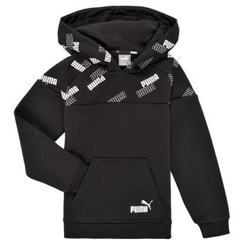 Textil Rapaz Sweats Puma PUMA POWER AOP HOODIE Preto