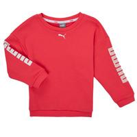 Textil Rapariga Sweats Puma ALPHA CREW SWEAT Rosa