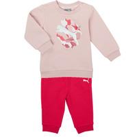 Textil Rapariga Conjunto Puma Minicats ALPHA Crew Jogger FL Rosa