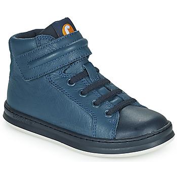 Sapatos Criança Sapatilhas de cano-alto Camper RUNNER Azul