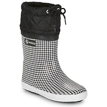 Sapatos Rapariga Botas de neve Aigle GIBOULEE PRINT Preto / Branco