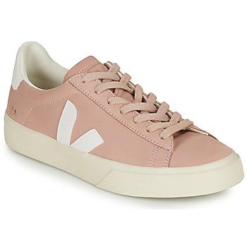 Sapatos Mulher Sapatilhas Veja CAMPO Rosa / Branco