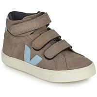 Sapatos Criança Sapatilhas de cano-alto Veja SMALL ESPLAR MID Cinza / Azul