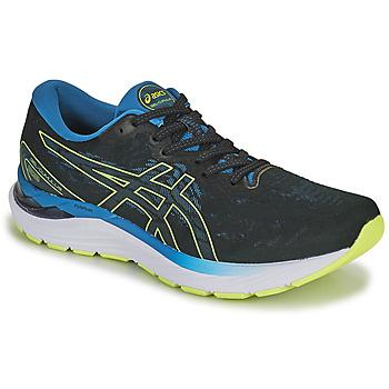 Sapatos Homem Sapatilhas de corrida Asics GEL-CUMULUS 23 Preto / Azul / Amarelo