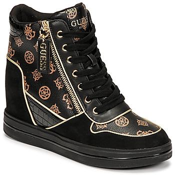 Sapatos Mulher Sapatilhas de cano-alto Guess NANGY Preto