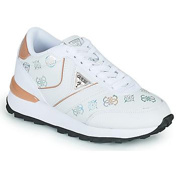 Sapatos Mulher Sapatilhas Guess SAMSIN4 Branco / Rosa