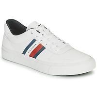 Sapatos Homem Sapatilhas Tommy Hilfiger CORE CORPORATE STRIPES VULC Branco