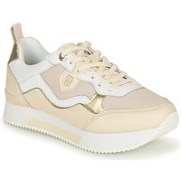 Sapatos Mulher Sapatilhas Tommy Hilfiger MATERIAL MIX ACTIVE CITY SNEAKER Bege / Ouro