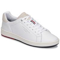 Sapatos Homem Sapatilhas Tommy Hilfiger RETRO TENNIS CUPSOLE LEATHER Branco
