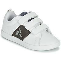 Sapatos Criança Sapatilhas Le Coq Sportif COURTCLASSIC PS Branco / Castanho