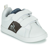 Sapatos Criança Sapatilhas Le Coq Sportif COURTCLASSIC INF Branco / Castanho