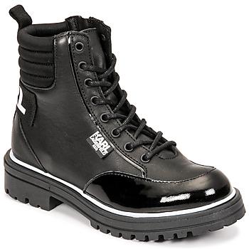 Sapatos Rapariga Botas Karl Lagerfeld HOLISTA Preto