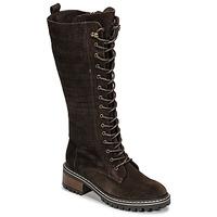 Sapatos Mulher Botas Elue par nous KOFOUR Castanho