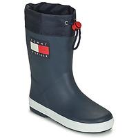 Sapatos Criança Botas de borracha Tommy Hilfiger T3X6-30766-0047800 Marinho