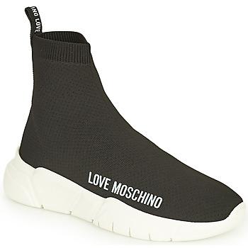 Sapatos Mulher Sapatilhas de cano-alto Love Moschino JA15343G1D Preto