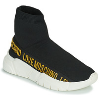 Sapatos Mulher Sapatilhas de cano-alto Love Moschino JA15633G0D Preto