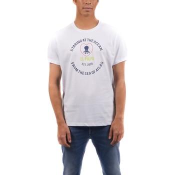 Textil Homem T-shirts e Pólos Elpulpo  Blanco