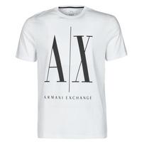 Textil Homem T-Shirt mangas curtas Armani Exchange HULO Branco