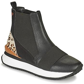 Sapatos Mulher Sapatilhas de cano-alto Gioseppo LUNNER Preto / Leopardo