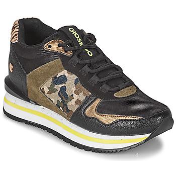 Sapatos Mulher Sapatilhas Gioseppo GRAZ Preto / Cáqui