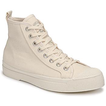 Sapatos Mulher Sapatilhas de cano-alto Bensimon STELLA B79 Bege