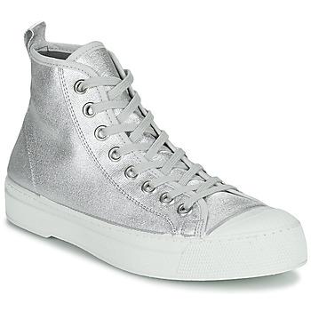 Sapatos Mulher Sapatilhas Bensimon STELLA B79 SHINY CANVAS Prata
