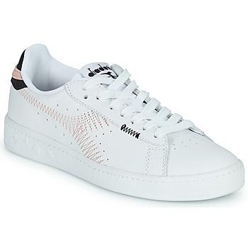 Sapatos Mulher Sapatilhas Diadora GAME L LOW ZIG ZAG WN Branco / Rosa