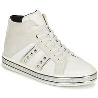 Sapatos Mulher Botas baixas Geox LEELU Branco / Cinza