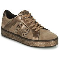 Sapatos Mulher Sapatilhas Geox LEELU Castanho / Ouro