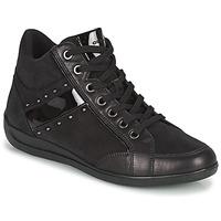 Sapatos Mulher Sapatilhas de cano-alto Geox MYRIA Preto