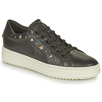 Sapatos Mulher Sapatilhas Geox PONTOISE Preto / Ouro