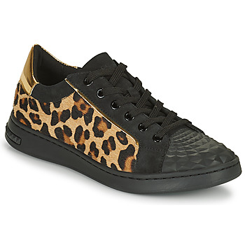 Sapatos Mulher Sapatilhas Geox JAYSEN Preto / Leopardo